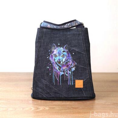 Farkasos átalakítható táska - farmer