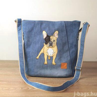 Francia bulldog crossbody táska - farmer